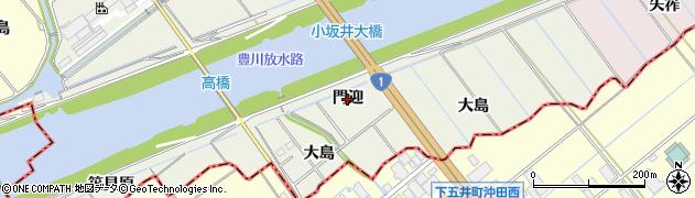 愛知県豊川市小坂井町(門迎)周辺の地図