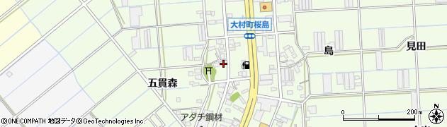 愛知県豊橋市大村町(高之城)周辺の地図
