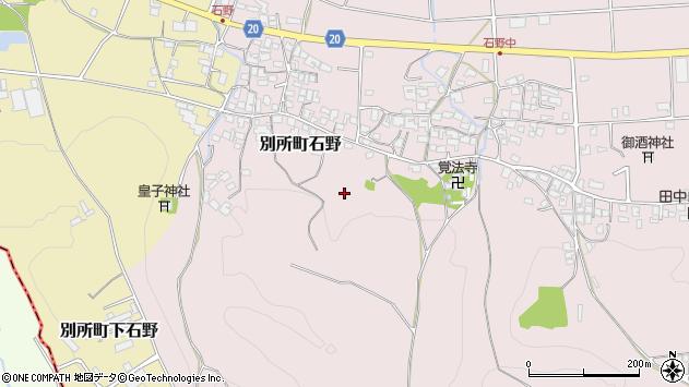 〒673-0452 兵庫県三木市別所町石野の地図