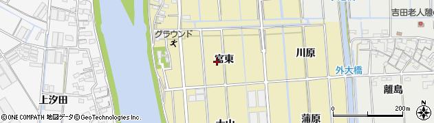 愛知県西尾市吉良町大島(宮東)周辺の地図