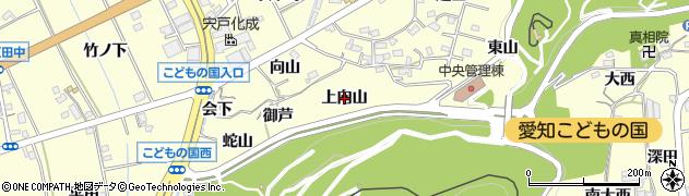 愛知県西尾市東幡豆町(上向山)周辺の地図