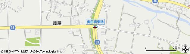 奥田橋東詰周辺の地図