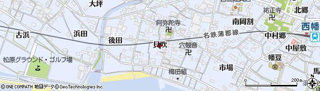 愛知県西尾市西幡豆町(貝吹)周辺の地図