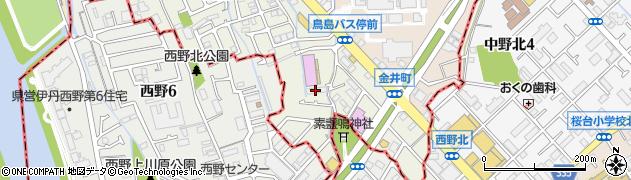 トップワン宝塚店周辺の地図