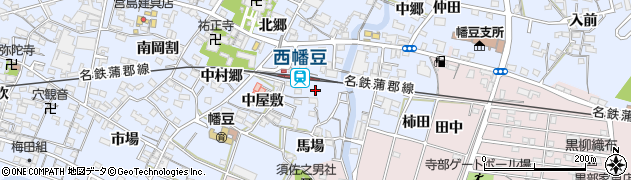 愛知県西尾市西幡豆町(高久)周辺の地図