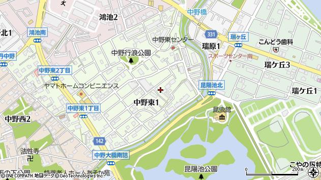 〒664-0022 兵庫県伊丹市中野東の地図