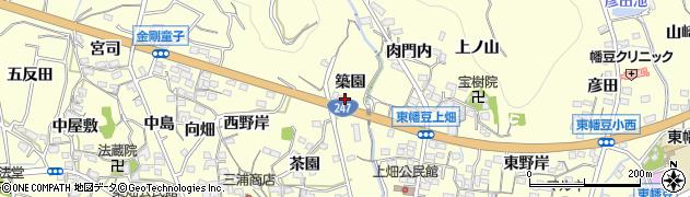 愛周辺の地図
