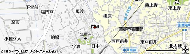 愛知県蒲郡市西浦町(門田)周辺の地図