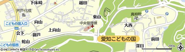 愛知県西尾市東幡豆町(南越田)周辺の地図