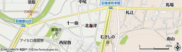愛知県豊橋市石巻本町(北海津)周辺の地図