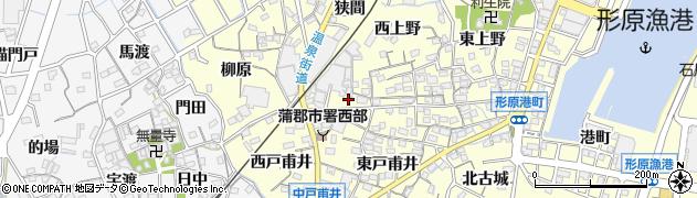 愛知県蒲郡市形原町(北戸甫井)周辺の地図