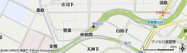 愛知県豊橋市石巻本町(鎌田)周辺の地図