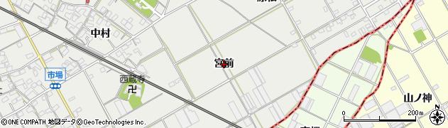 愛知県豊川市伊奈町(宮前)周辺の地図