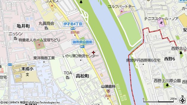 〒665-0041 兵庫県宝塚市御所の前町の地図