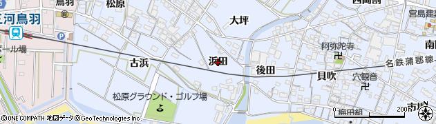 愛知県西尾市西幡豆町(浜田)周辺の地図
