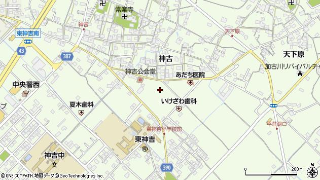 〒675-0057 兵庫県加古川市東神吉町神吉の地図