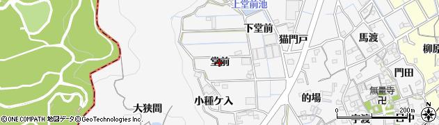 愛知県蒲郡市西浦町(堂前)周辺の地図