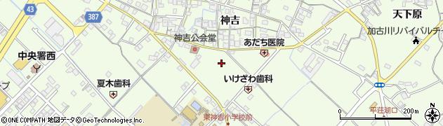 兵庫県加古川市東神吉町(神吉)周辺の地図