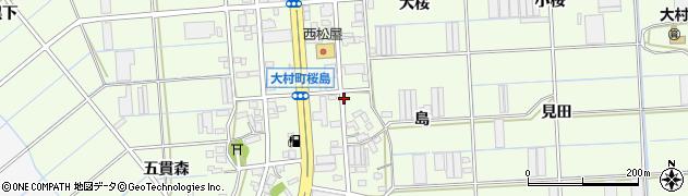 愛知県豊橋市大村町(桜島)周辺の地図