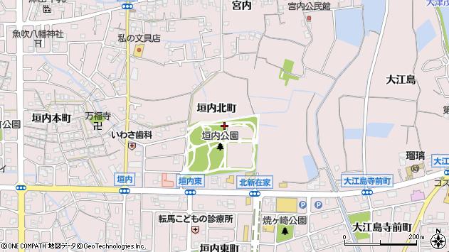 〒671-1251 兵庫県姫路市網干区垣内北町の地図