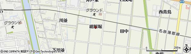 愛知県西尾市吉良町富好新田(紺屋堀)周辺の地図
