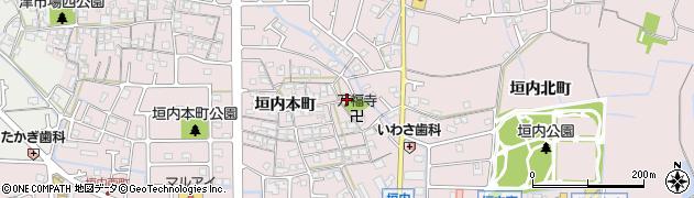 兵庫県姫路市網干区垣内本町周辺の地図