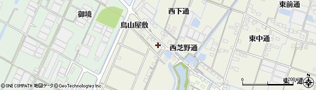 愛知県西尾市一色町酒手島(西芝野通官地拝借無)周辺の地図