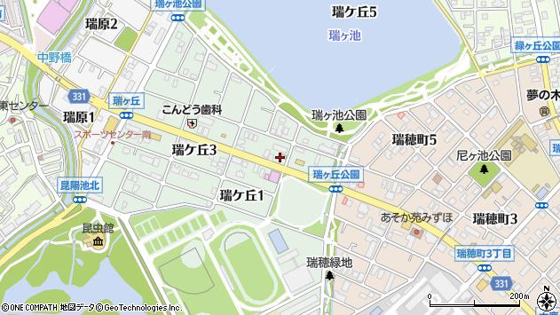 〒664-0017 兵庫県伊丹市瑞ケ丘の地図