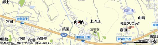 愛知県西尾市東幡豆町(肉門内)周辺の地図
