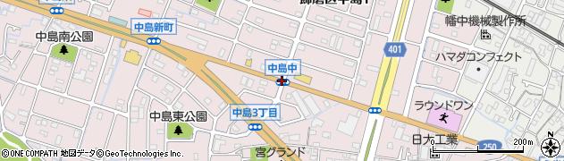 中島中周辺の地図