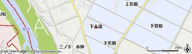 愛知県豊橋市下条東町(下大道)周辺の地図