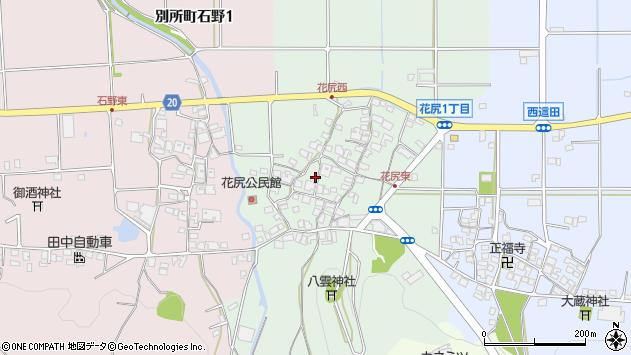 〒673-0446 兵庫県三木市別所町花尻の地図