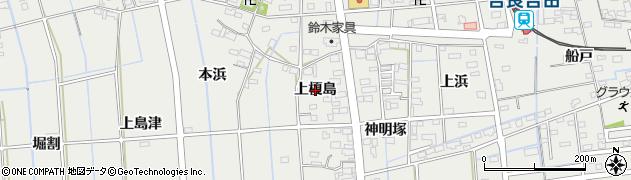 愛知県西尾市吉良町吉田(上榎島)周辺の地図