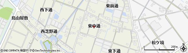 愛知県西尾市一色町酒手島(東中通)周辺の地図