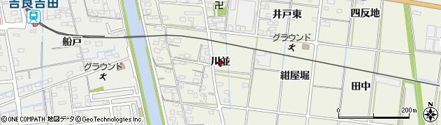 愛知県西尾市吉良町富好新田(川並)周辺の地図