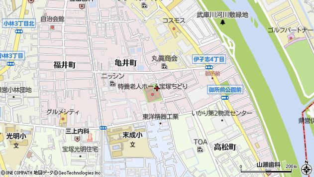 〒665-0047 兵庫県宝塚市亀井町の地図