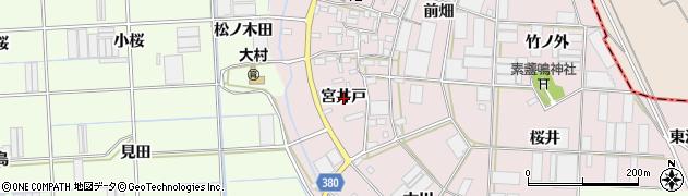 愛知県豊橋市長瀬町(宮井戸)周辺の地図