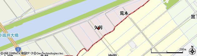 愛知県豊川市篠束町(矢筰)周辺の地図