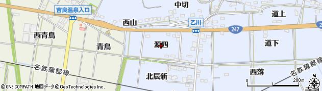 愛知県西尾市吉良町乙川(源四)周辺の地図