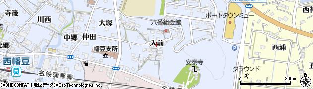 愛知県西尾市西幡豆町(入前)周辺の地図