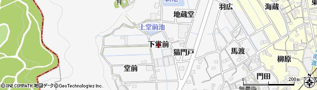 愛知県蒲郡市西浦町(下堂前)周辺の地図