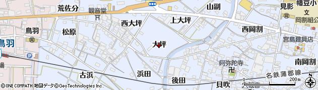 愛知県西尾市西幡豆町(大坪)周辺の地図