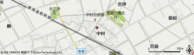 愛知県豊川市伊奈町(中村)周辺の地図