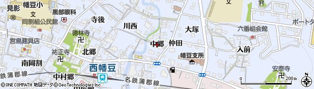 愛知県西尾市西幡豆町(中郷)周辺の地図