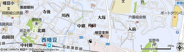愛知県西尾市西幡豆町(仲田)周辺の地図