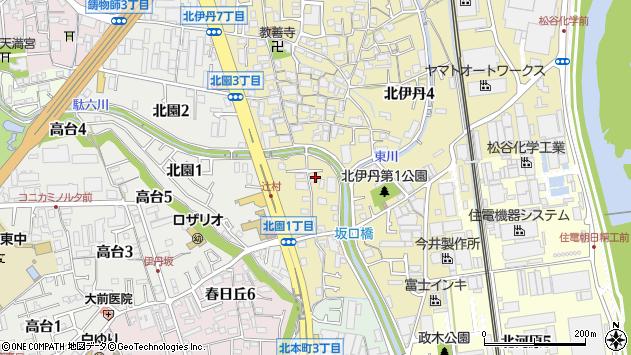 〒664-0831 兵庫県伊丹市北伊丹の地図