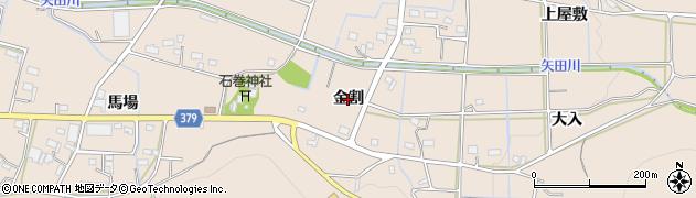 愛知県豊橋市石巻町(金割)周辺の地図