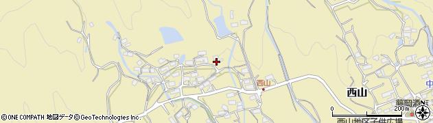 三重県伊賀市西山周辺の地図