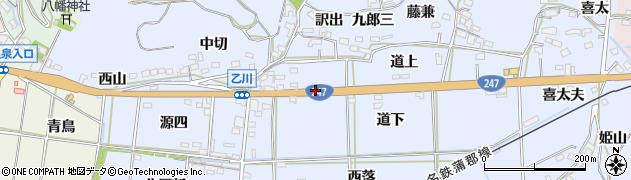 愛知県西尾市吉良町乙川(六郎衛)周辺の地図
