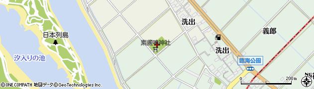愛知県豊川市御津町新田(新砂山)周辺の地図